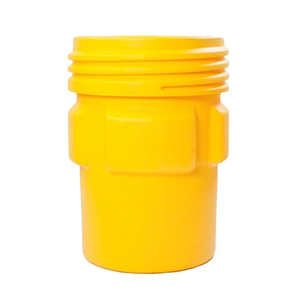 Overpack Poly Drum, 95 Gal. Yellow w/ Screw-on Lid