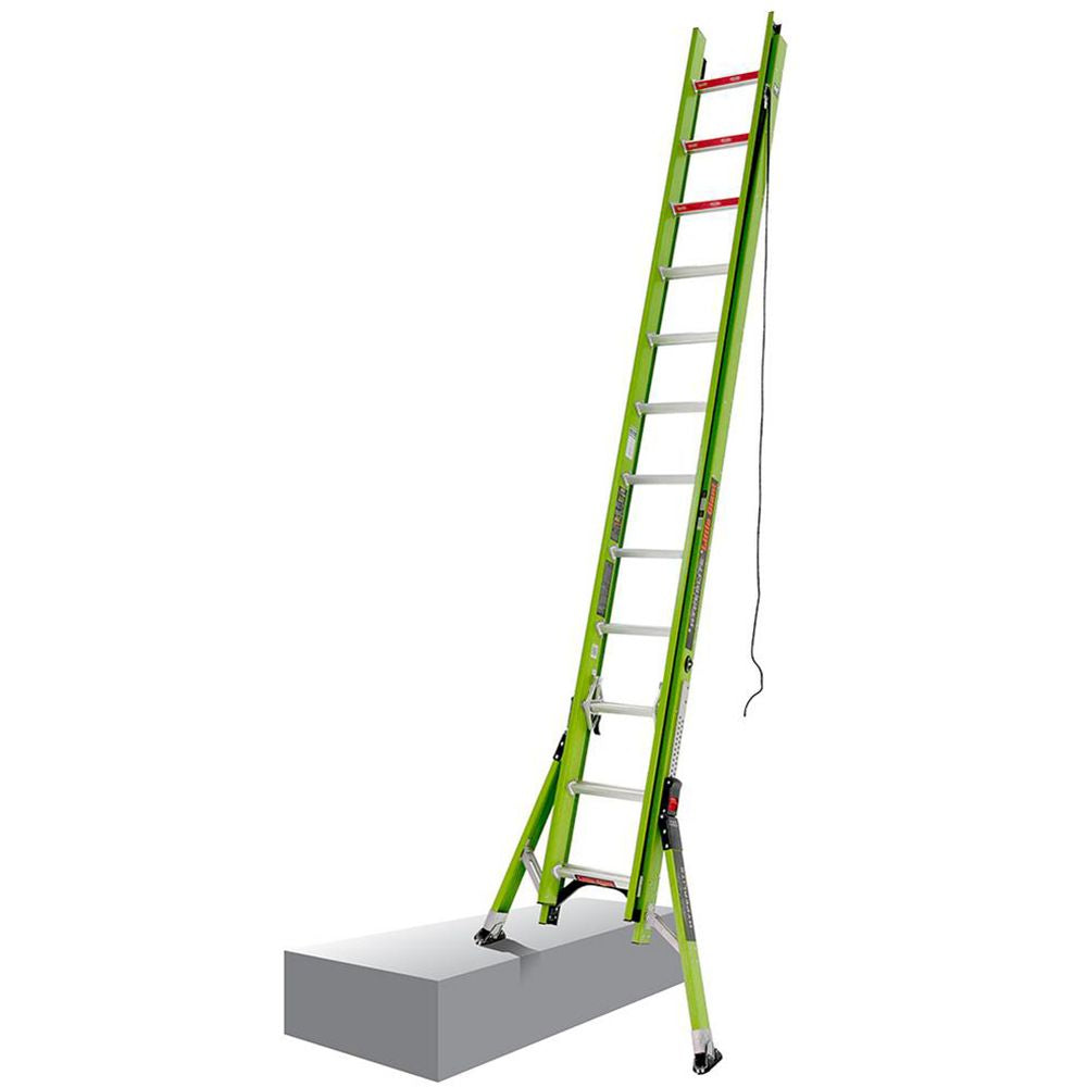 24 Ft. HyperLite SumoStance Fiberglass Extension Ladder - Type IA