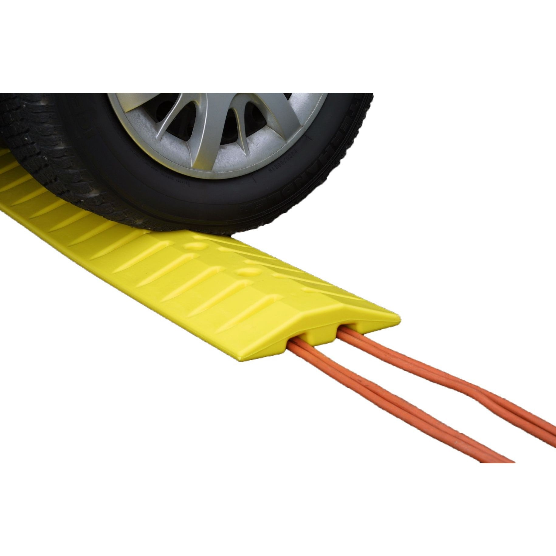 Speed Bump Cable Guard Yellow