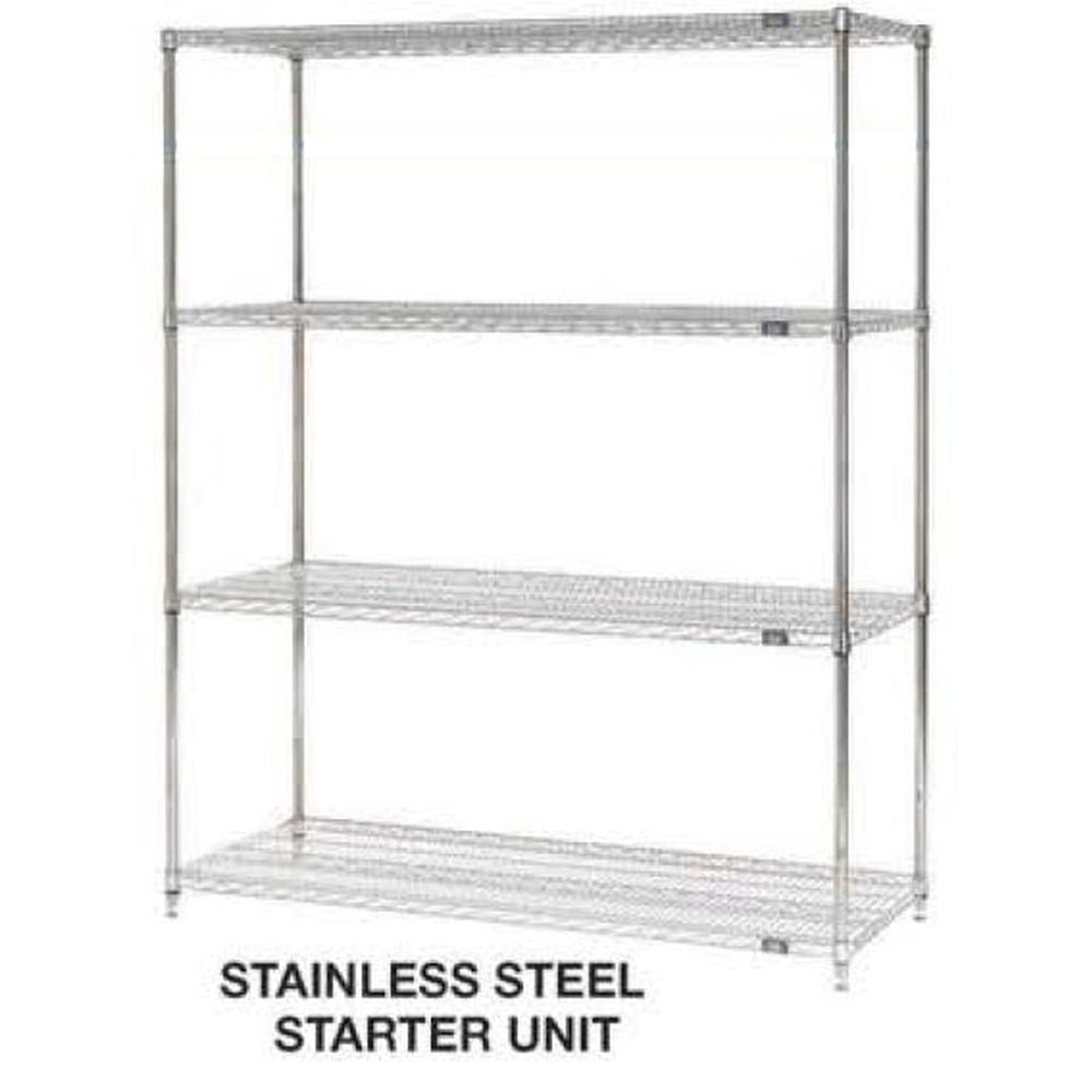 Wire Shelving Stainless Steel Series Starter Unit (72