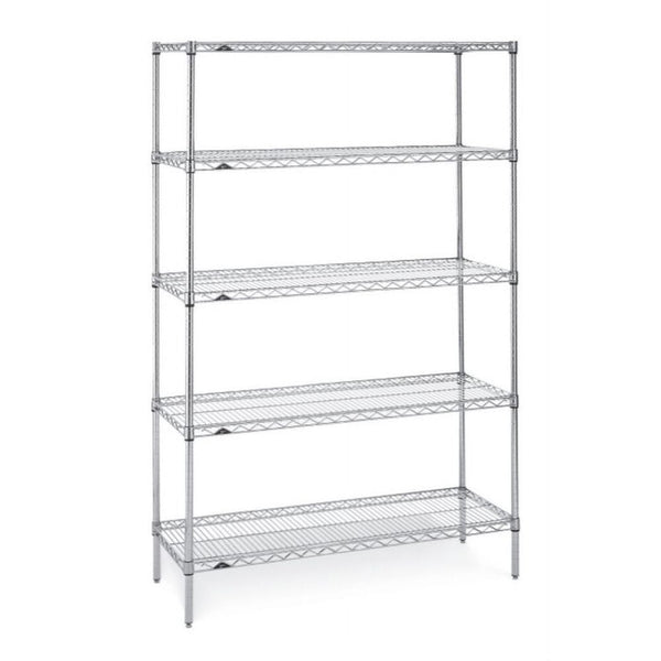 "Super Erecta Erecta Brite Finish 18""D x 63""H (5 Shelves)"