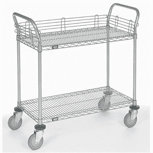 Adjustable Wire Shelf Cart, Two Handles