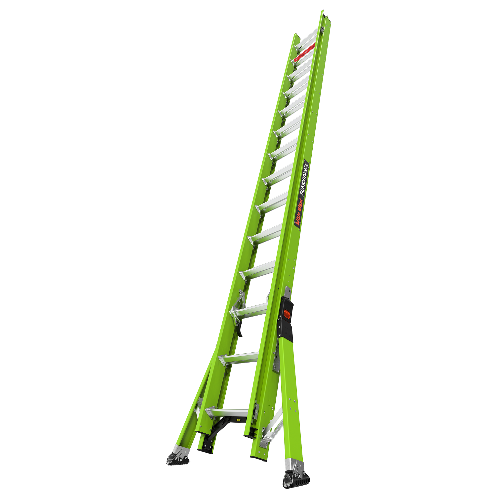 28 Ft. HyperLite SumoStance Fiberglass Extension Ladder - Type IA