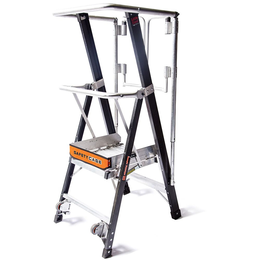 2 Ft. Safety Cage Fiberglass Step Ladder - Type IAA