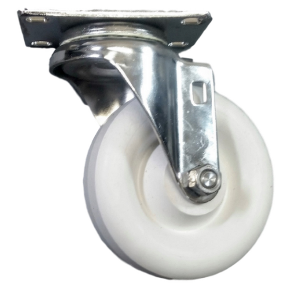 "4"" x 1-1/4"" Polyolefin Wheel Swivel Caster Stainless Steel - 350 lbs. Capacity"