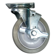 "5"" x 1-1/4"" Nomadic Wheel Swivel Caster W/ Top Lock Brake - 325 lbs. capacity"