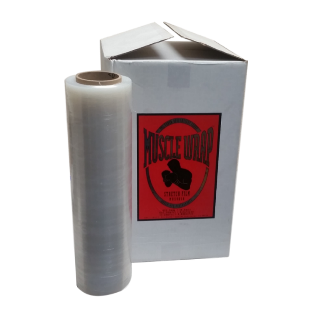 Heavy Duty Stretch Wrap 1 Case (4 Rolls) 18in x 1500ft Clear