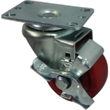 "3"" Polyurethane Wheel Swivel Caster w/ Top Lock Brake - 275 lbs. Cap."