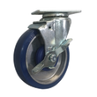 "5"" x 1-1/4"" Polyon Aluminum Swivel Caster w/ Top Lock Brake - 350 lbs. Cap."
