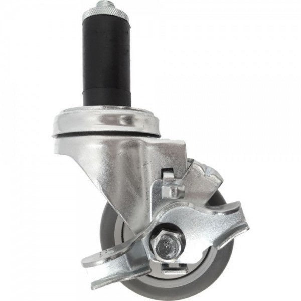 "3"" Thermo-Pro Threaded Swivel Stem Caster w/ Top Lock Brake, Expandable Adapter 210 lbs. Capacity"