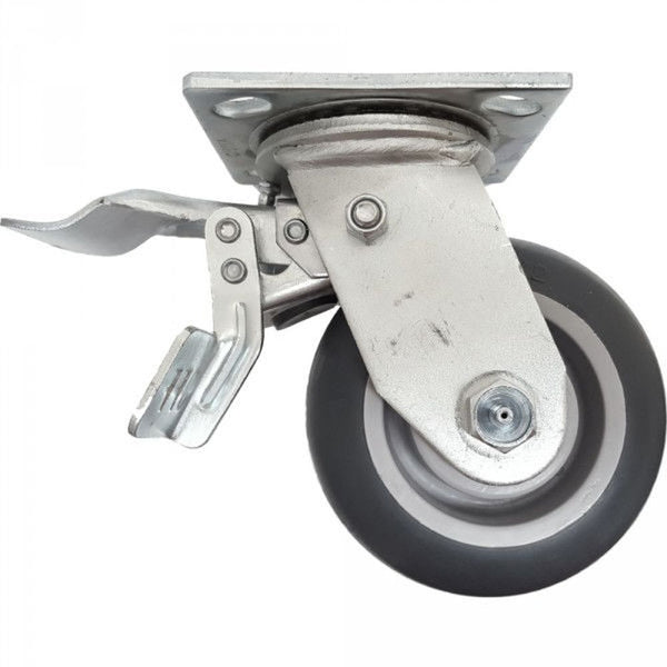 "5"" x 2"" Thermo-Pro Wheel Swivel Caster W/ Dual Pedal Lock Brake - 350 lbs. Cap."