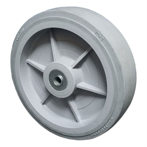 "12"" Performa Thermoplastic Rubber Wheel (Roller Bear., 3/4""), 800# Cap"
