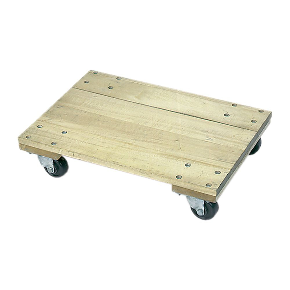 Solid Platform Wood Dolly - 900-1200lb. Capacity