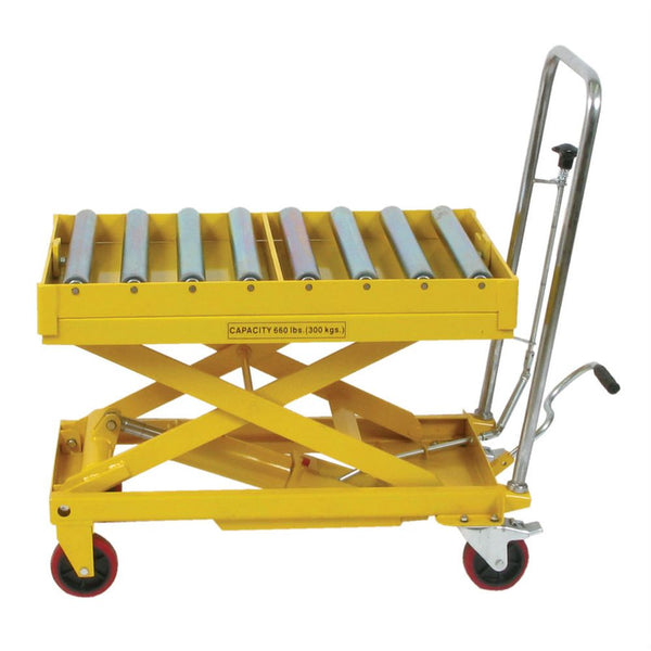 Wesco® Scissors Table w/ Roller Top - 660lb. Capacity