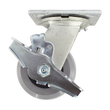 "4"" x 2"" Ergolastomer Wheel Swivel Caster, Top Lock Brake, 1000 lb Cap."