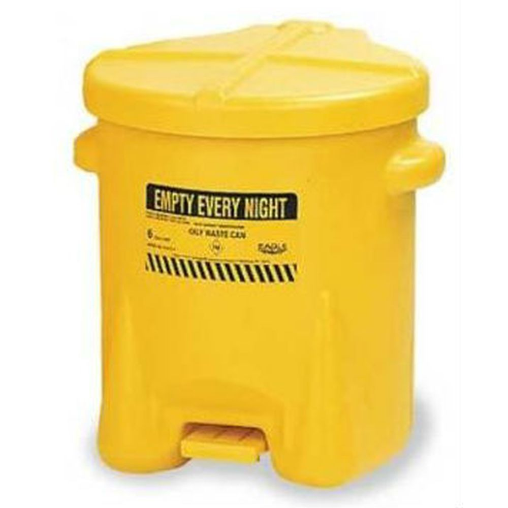 Oily Waste Can 14 Gal. Yellow Poly