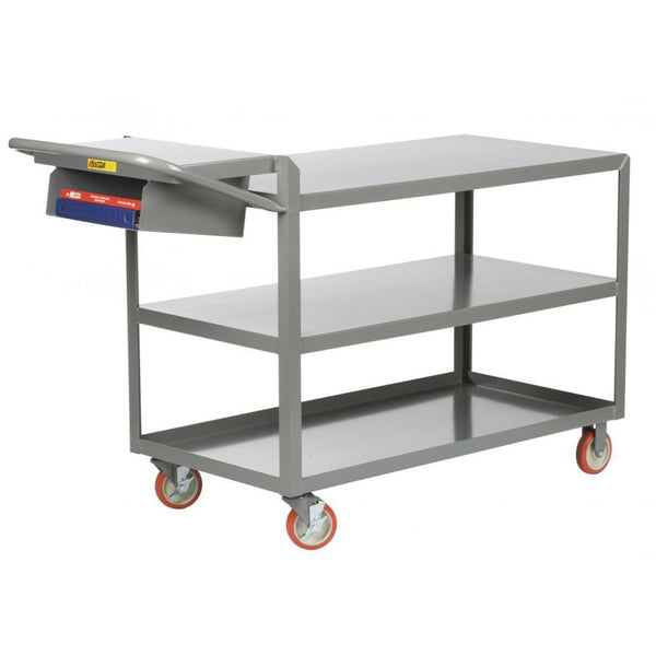 3-Shelf Order Picking Truck (w/ Flush Top and Storage Pocket)
