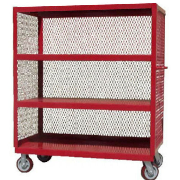 3-Sided Service Cart (4 Shelves)