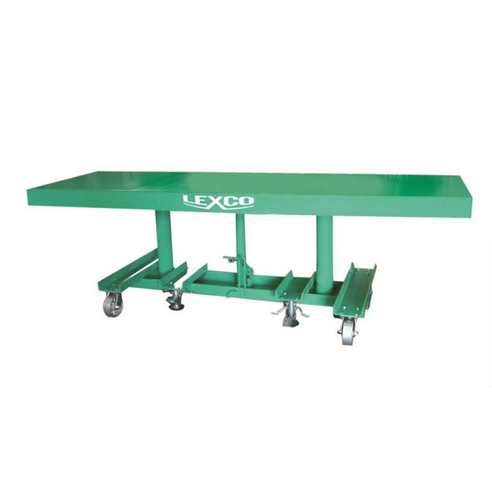 Long-Deck Hydraulic Foot Operated Lift Table (2,000 lb. Capacity)
