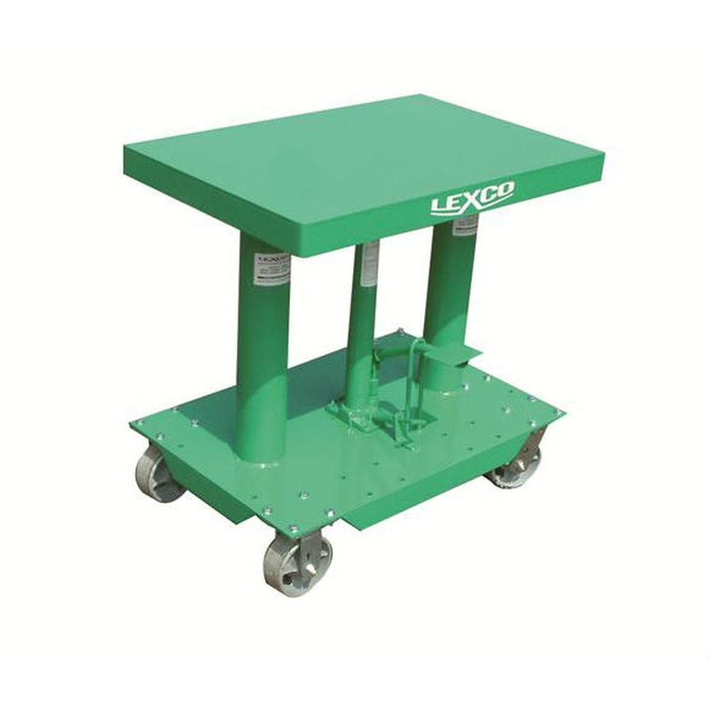 Foot & Electrically Operated Hydraulic Lift Table