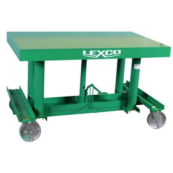 Long-Deck Hydraulic Foot Operated Lift Table (3,000 lb Capacity)