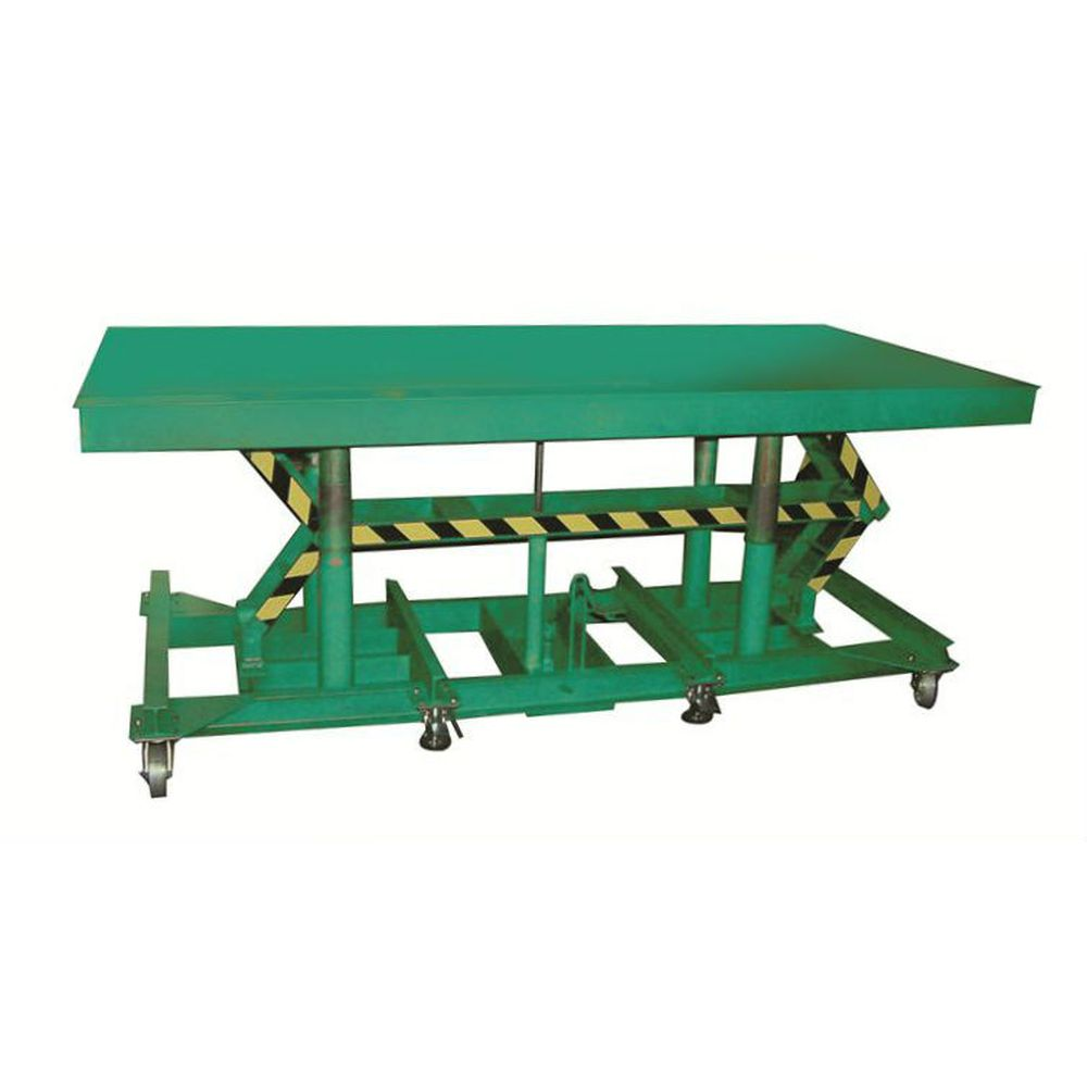 Long-Deck Hydraulic Foot Operated Lift Table (5,000 lb Capacity)