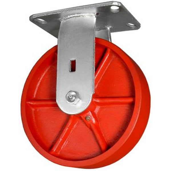 "8"" x 2"" Ductile Steel Wheel Rigid Caster - 2000 lbs. capacity"