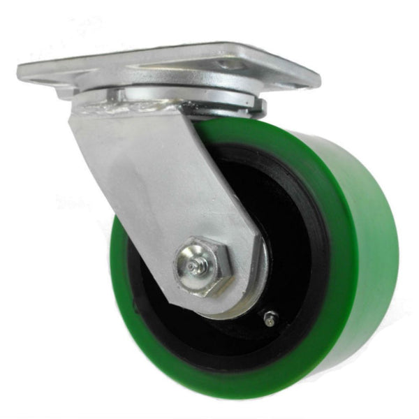 "6"" x 3"" Ultra-Poly Cast Wheel Swivel Caster - 3,000 lbs. capacity"