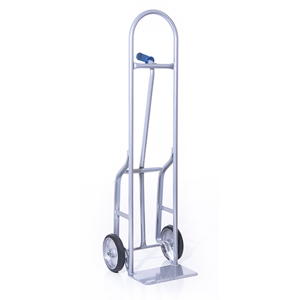 Single Pin Steel Hand Truck w/ Rubber Wheels For Round Objects (55