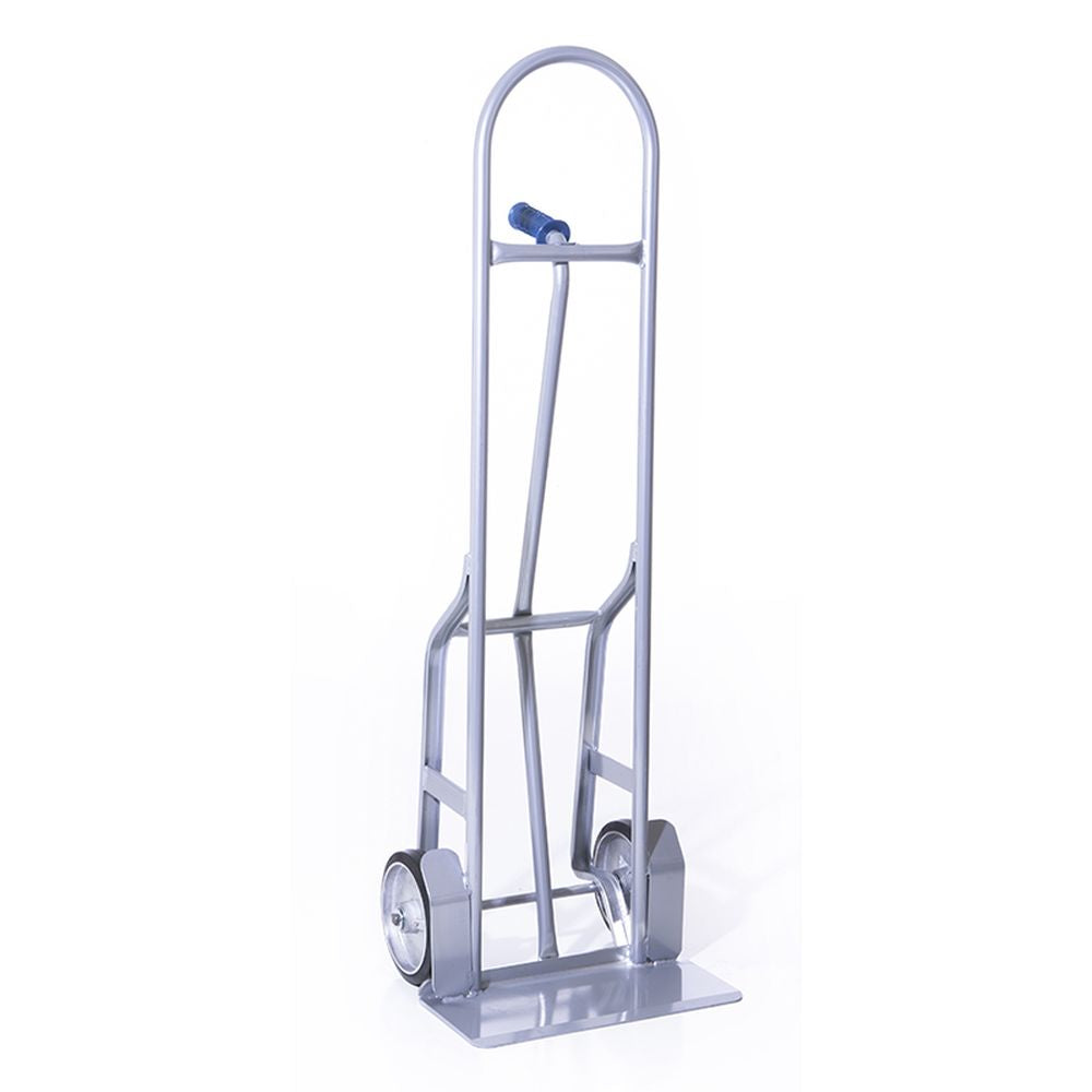 Single Pin Steel Hand Truck w/ Rubber Wheels and Wheel Guards - (55
