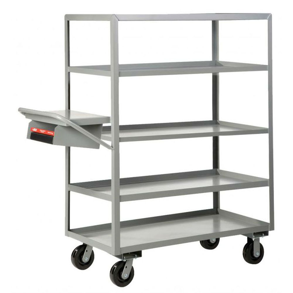 Multi-Shelf Order Picking Truck (5 Shelves w/ Lips)