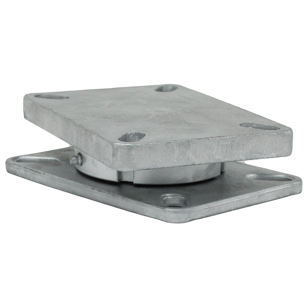 "Kingpinless Turntable Caster Mount Plates 4-1/2"" x 6-1/4"" - 7,000 lbs. Capacity"