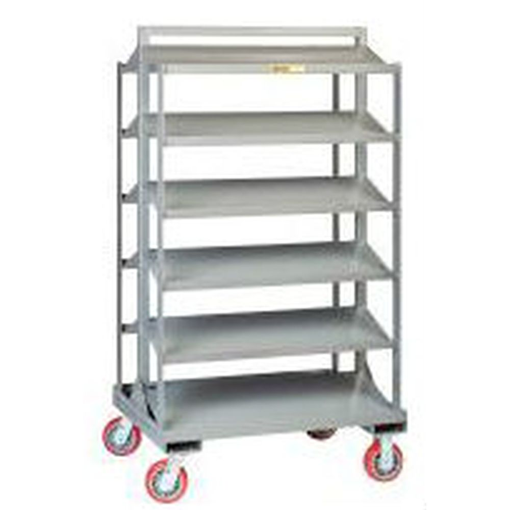 Sloped Shelf Bin Cart - 6BC-3036-6PY