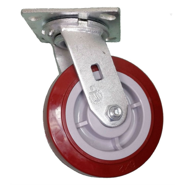 "6"" x 2"" Polymadic Wheel Swivel Caster - 900 lbs. capacity"