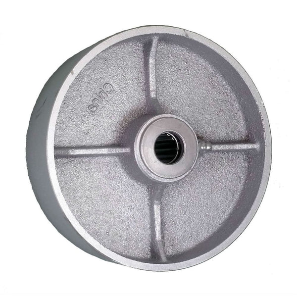 "6"" x 2"" Semi-Steel Wheel - 1200 lbs. Capacity"