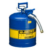 "Type 2 AccuFlow Steel Safety Can, 5 Gal, S/S Flame Arrest, 1"" Hose"