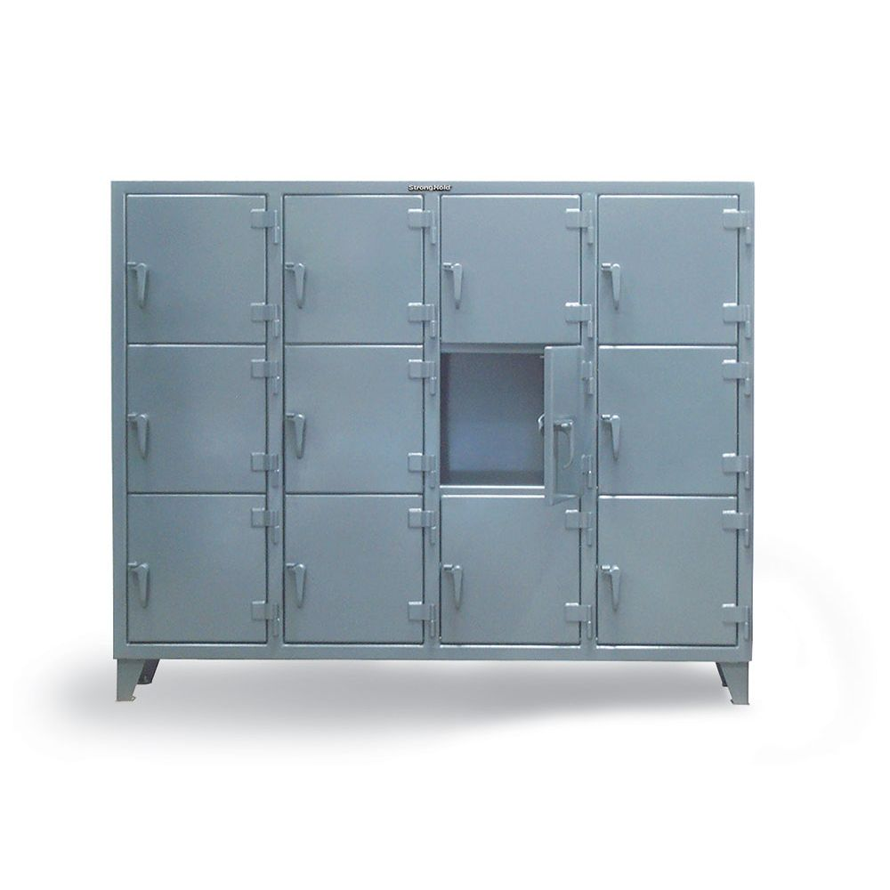Triple-Tier Industrial Locker with Multiple Compartments