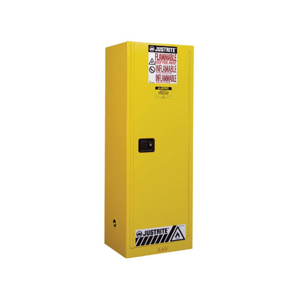 Sure-Grip Ex Slimline Flammable Safety Cab, 22 Gal, 3 Shlv, 1 s/c Dr