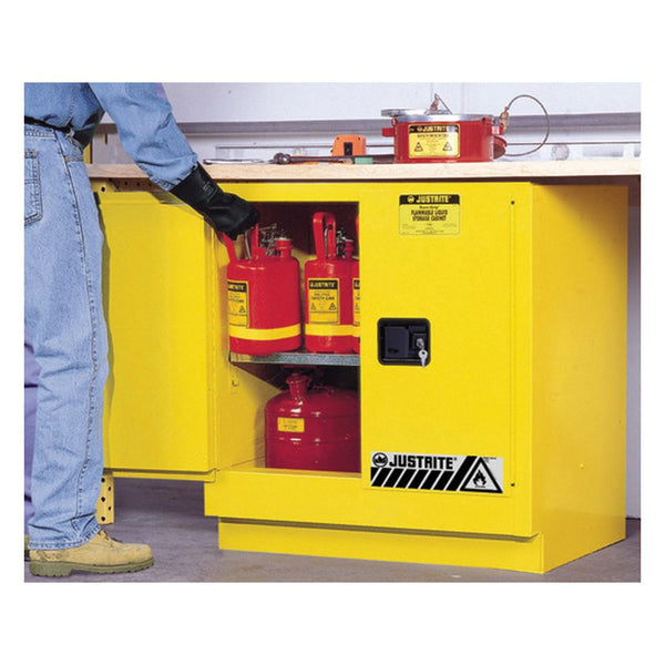 Sure-Grip Ex Undercounter Flammable Safety Cab, 22 Gal, 2 m/c Dr