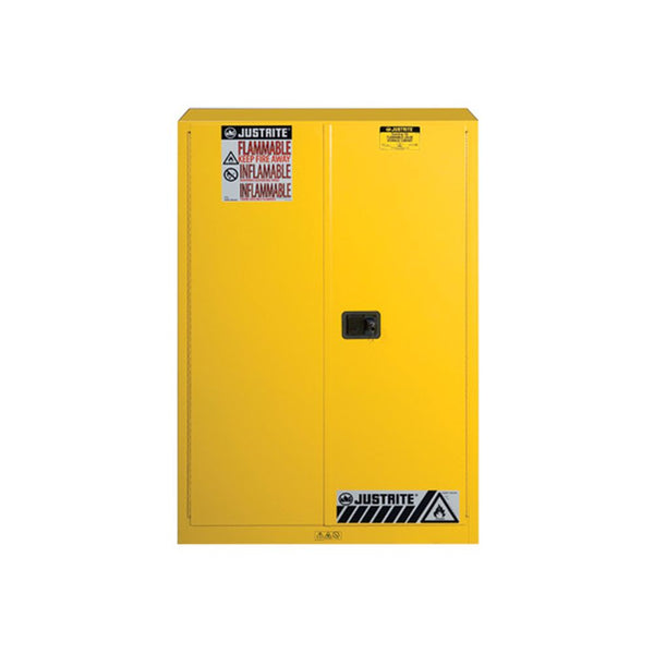 Sure-Grip Ex Flammable Safety Cabinet, Cap. 45 Gallons, 2 Shelves, 2 M-C Doors
