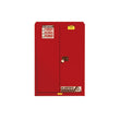 Sure-Grip Ex Flammable Safety Cabinet, 45 Gal., 2 Shlv, 2 s/c Dr Red