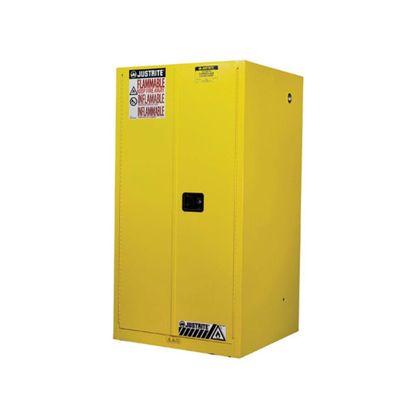 Sure-Grip Ex Flammable Safety Cabinet, Cap. 60 Gallons, 2 Shelves, 2 m-c Doors