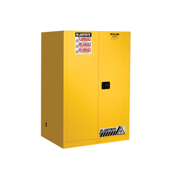 Sure-Grip Ex Flammable Safety Cabinet, 90 Gal., 2 Shlv, 2 s/c Doors