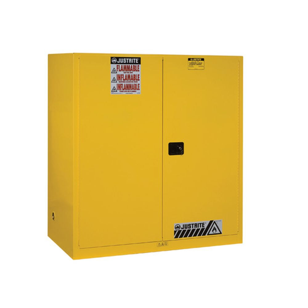 Sure-Grip Ex Vertical Drum Safety Cabinet, Support, 110 Gal, 2 S/C Dr