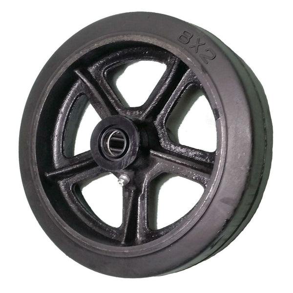 "8"" x 2"" Mold-On Rubber Cast Wheel - 600 lbs. Capacity"