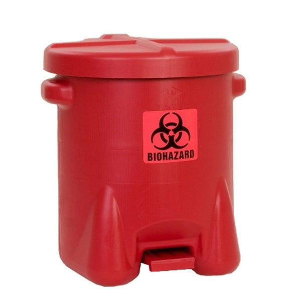 BioHazardous Waste Can 14 Gal. Red Poly