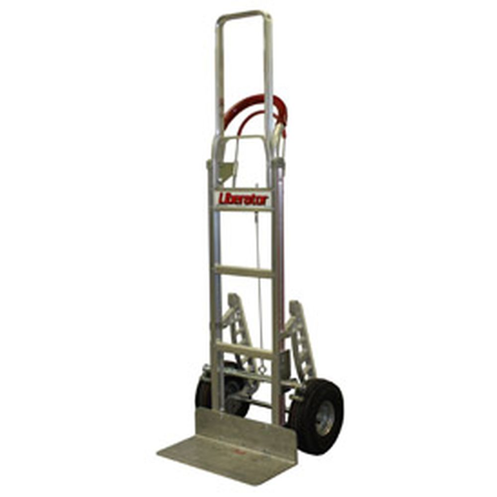 B&P Tread Brake Loop Handle Hand Truck w/ Pneu Wheels