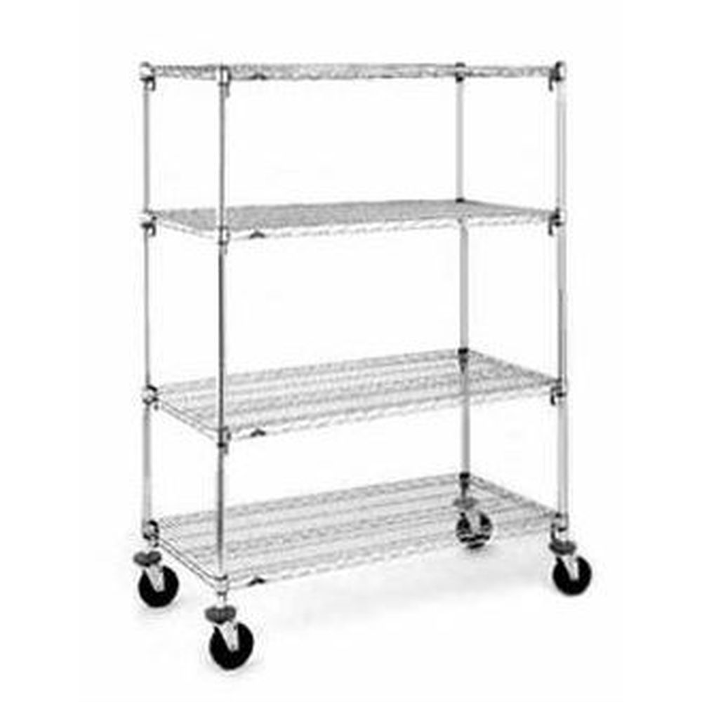 Mobile Adjustable Super Erecta Chrome Shelving Unit 18