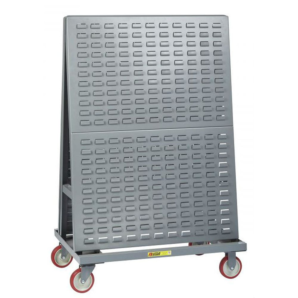 Mobile A-Frame Lean Tool Cart (Louvered Panel) - AFLP-2448-5PY