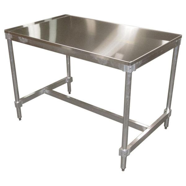 "Stainless Steel Top I Frame Table (30""D)"